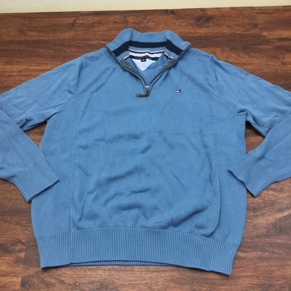 Tommy Hilfiger Other - TOMMY HILFIGER Men's Blue Pullover Sweater 1/4 Zip